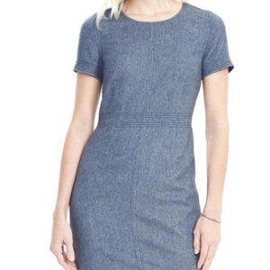 Banana Republic Blue Wool Dress 6P